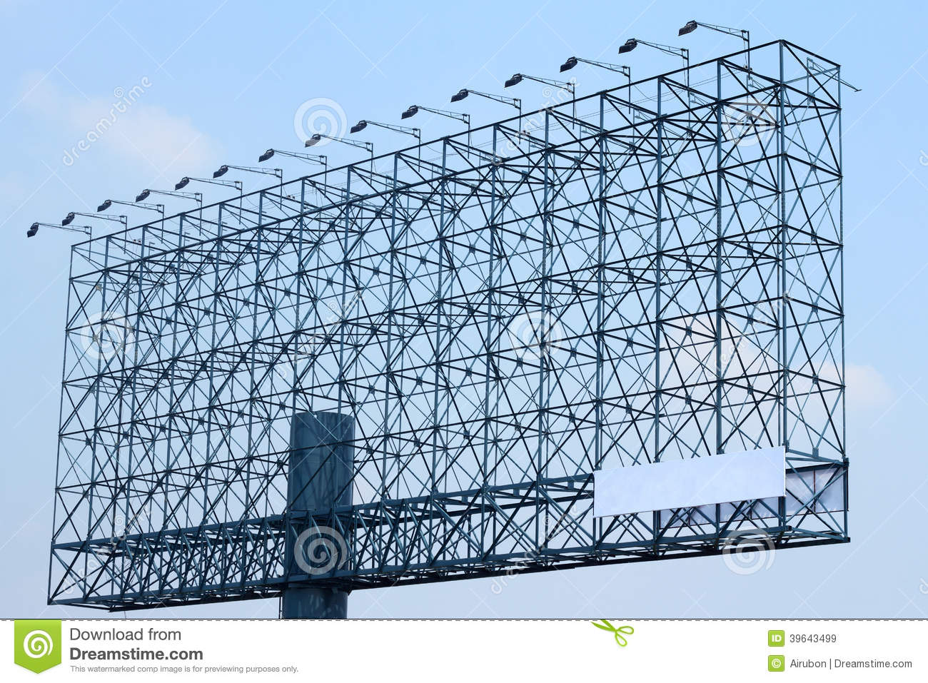 Steel Structure Billboard With Light Stock Image Image