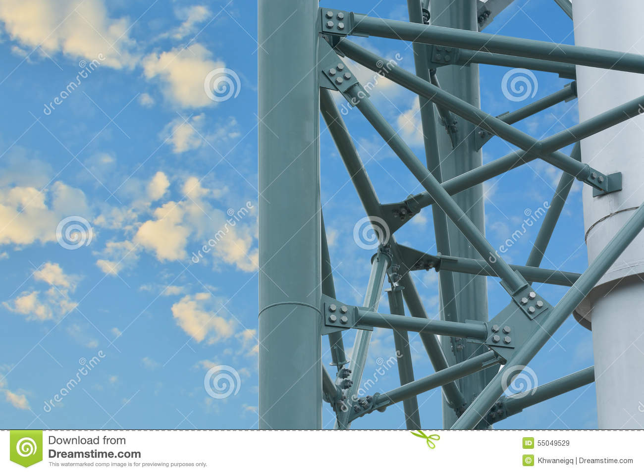 Steel Structure Of The Column Stack. Stock Image - Image of design ...
