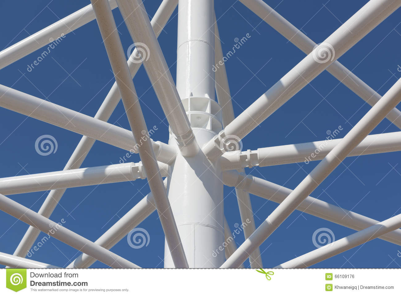 Steel Structure At Connection Joint Stock Photo Image