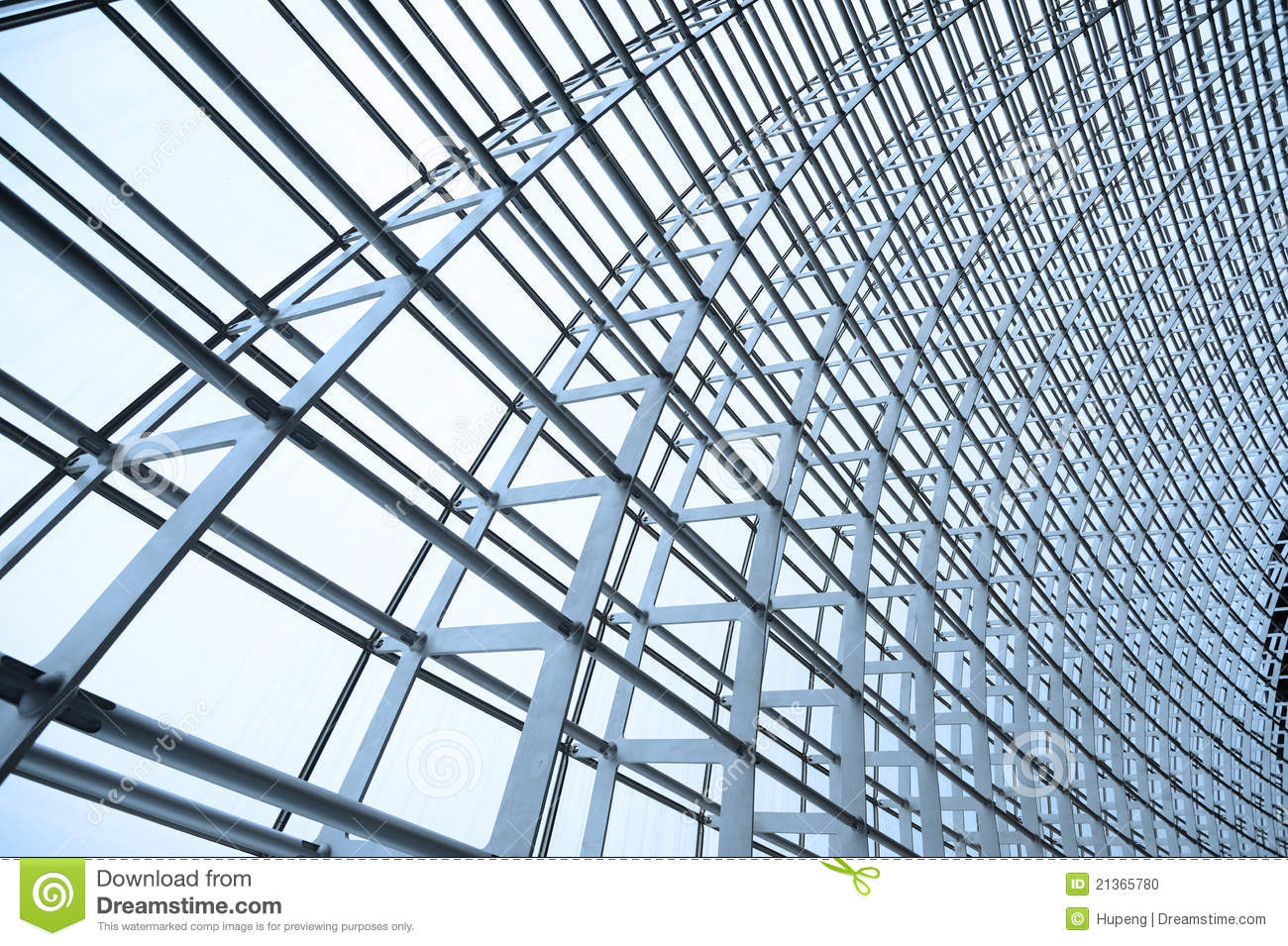 Steel Structure And Glass Roof Stock Photo Image 21365780