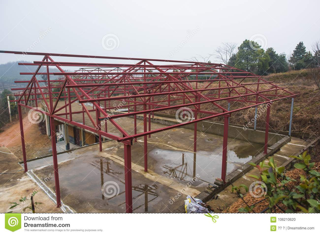 Wondrous Steel Structure Houses Built Stock Photo Image Of Material Beutiful Home Inspiration Truamahrainfo