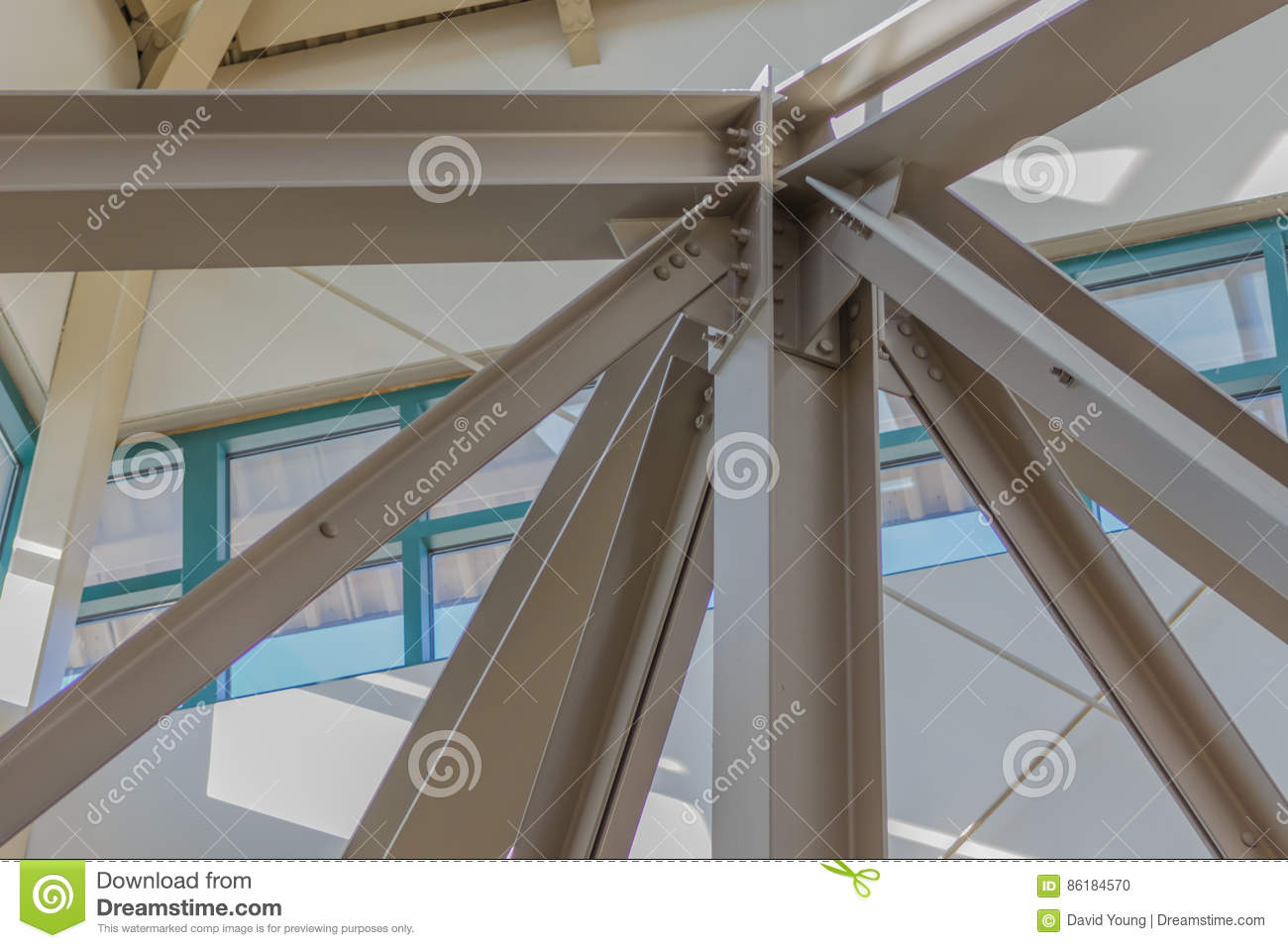 Steel Beam Ceiling Support