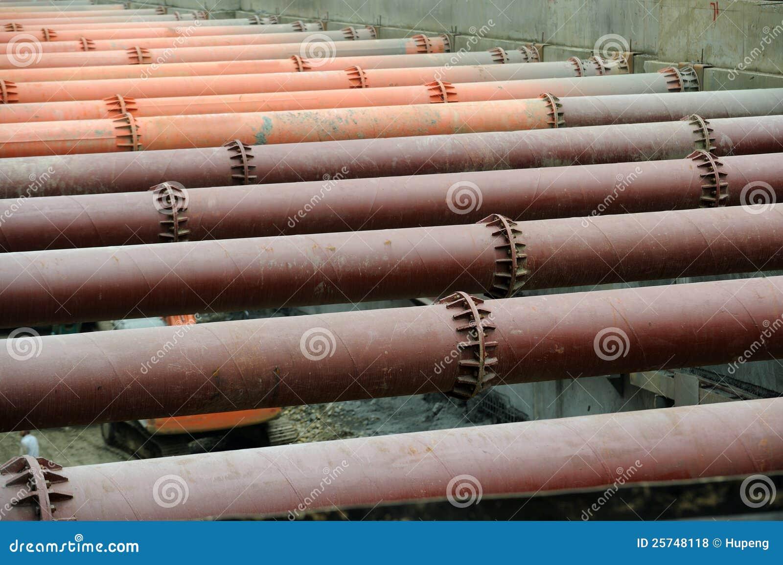 Steel pipe piles royalty free stock photo cartoondealer