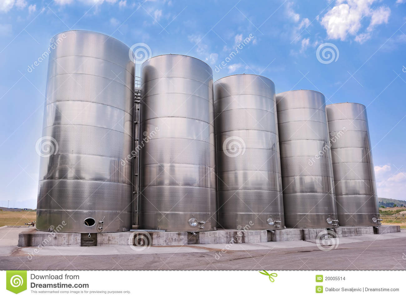3a6eae406a956 Steel Tanks Storing Liquids Stock Photo - Image of metal