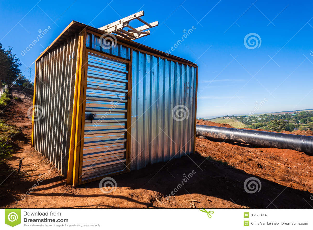 Construction Sheet Metal : Steel tool shed construction stock images image