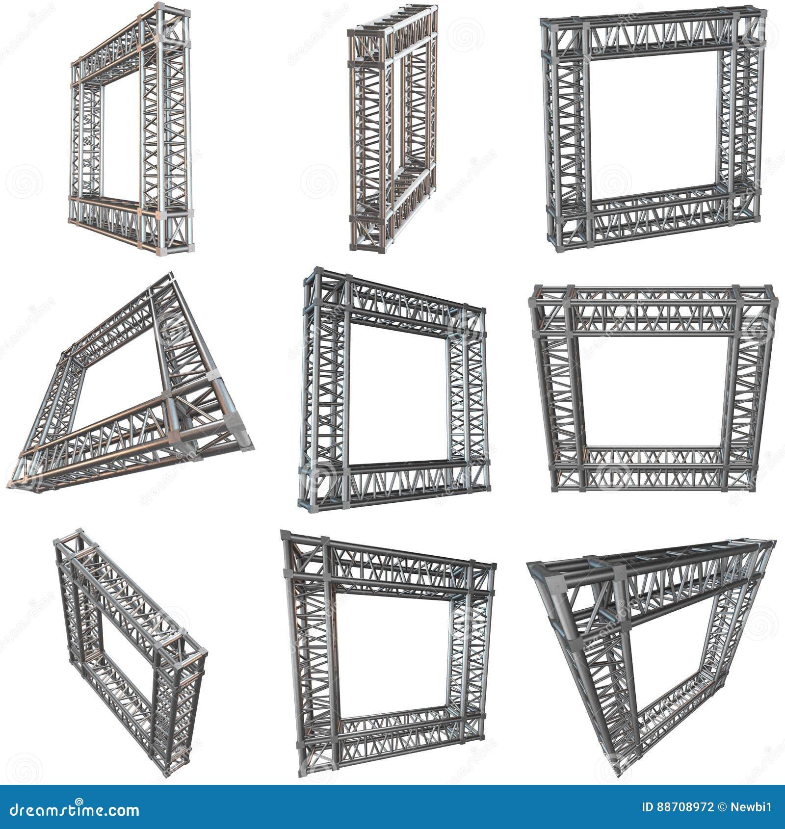 Steel Truss Girder Rooftop Construction Stock Illustration ...