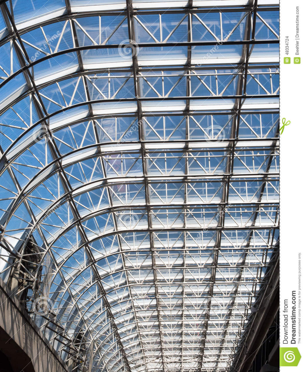 Steel Truss And Glass Of Canada Place Stock Photo Image