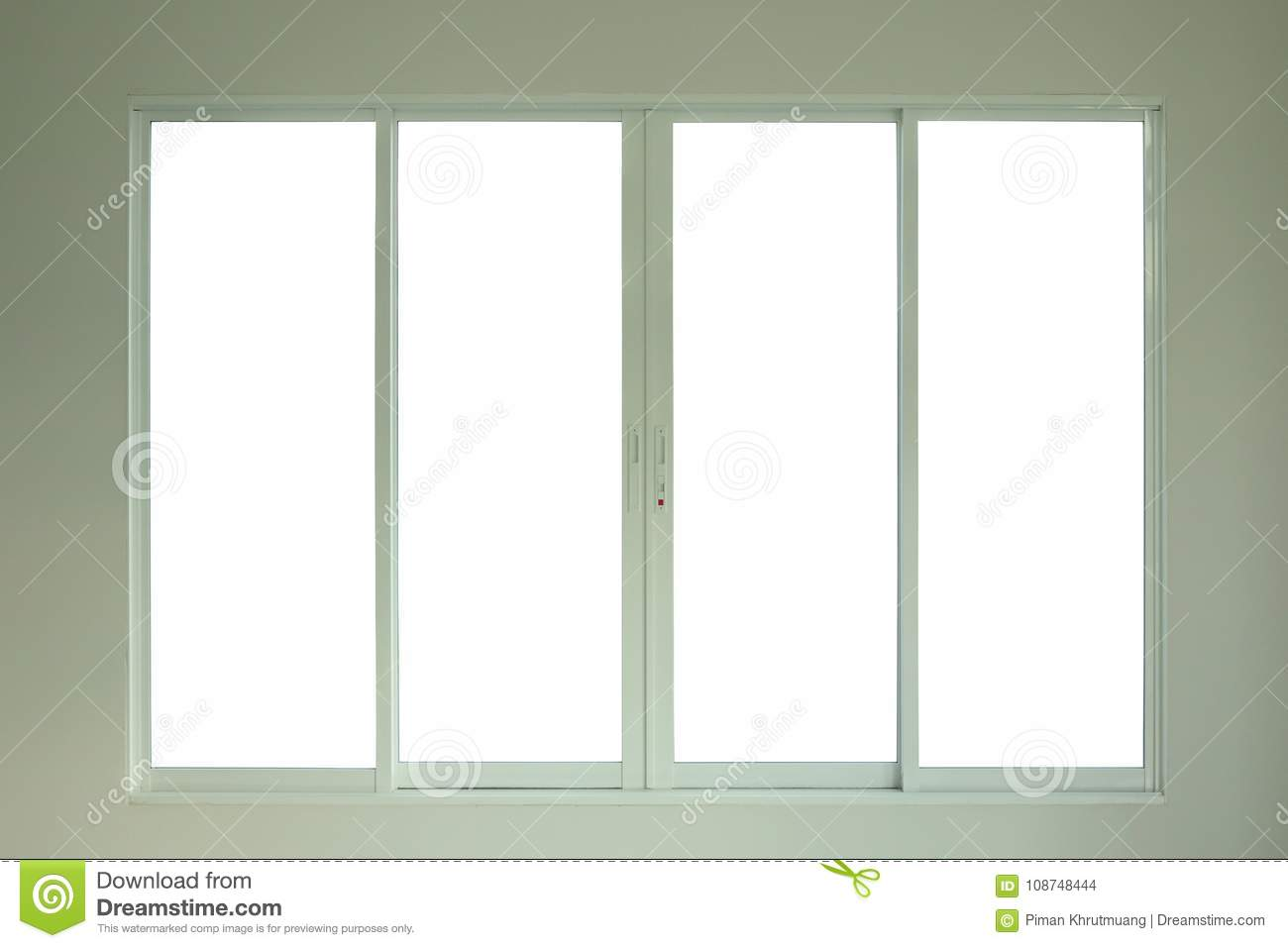Steel White Window Frame Home Interior Stock Photo - Image of ...