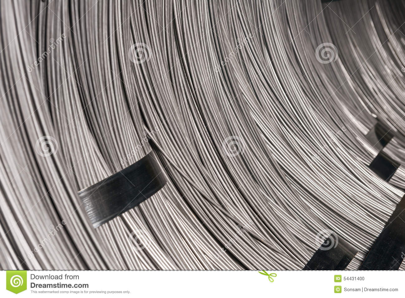 Steel Wire Rod - Steel Coils Stock Photo - Image of spiral, bundle ...