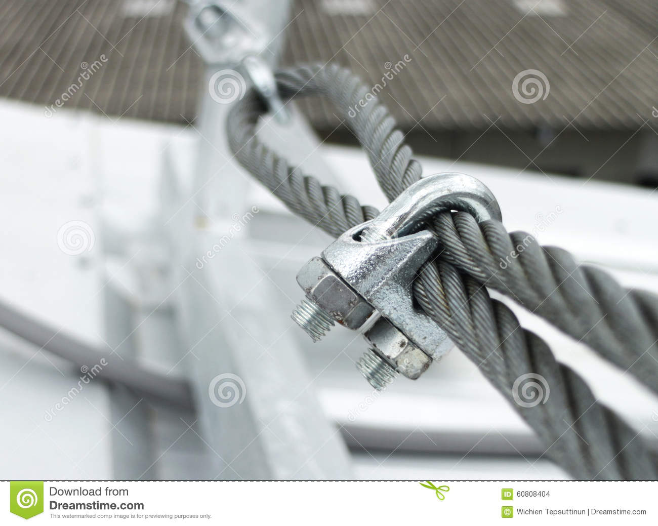 Steel Wire Rope Sling Clip Stock Photo Image 60808404