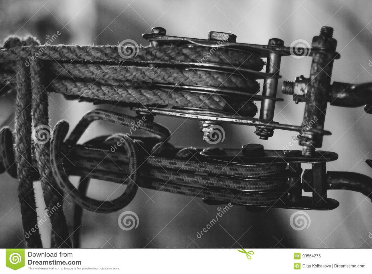Steel Wire Rope Sling Clip Stock Image Of 99564275 Cable Harness Clips Download