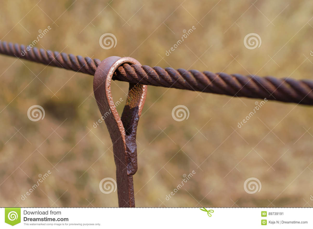 Steel wire rope stock image. Image of accessories, connection - 89739191