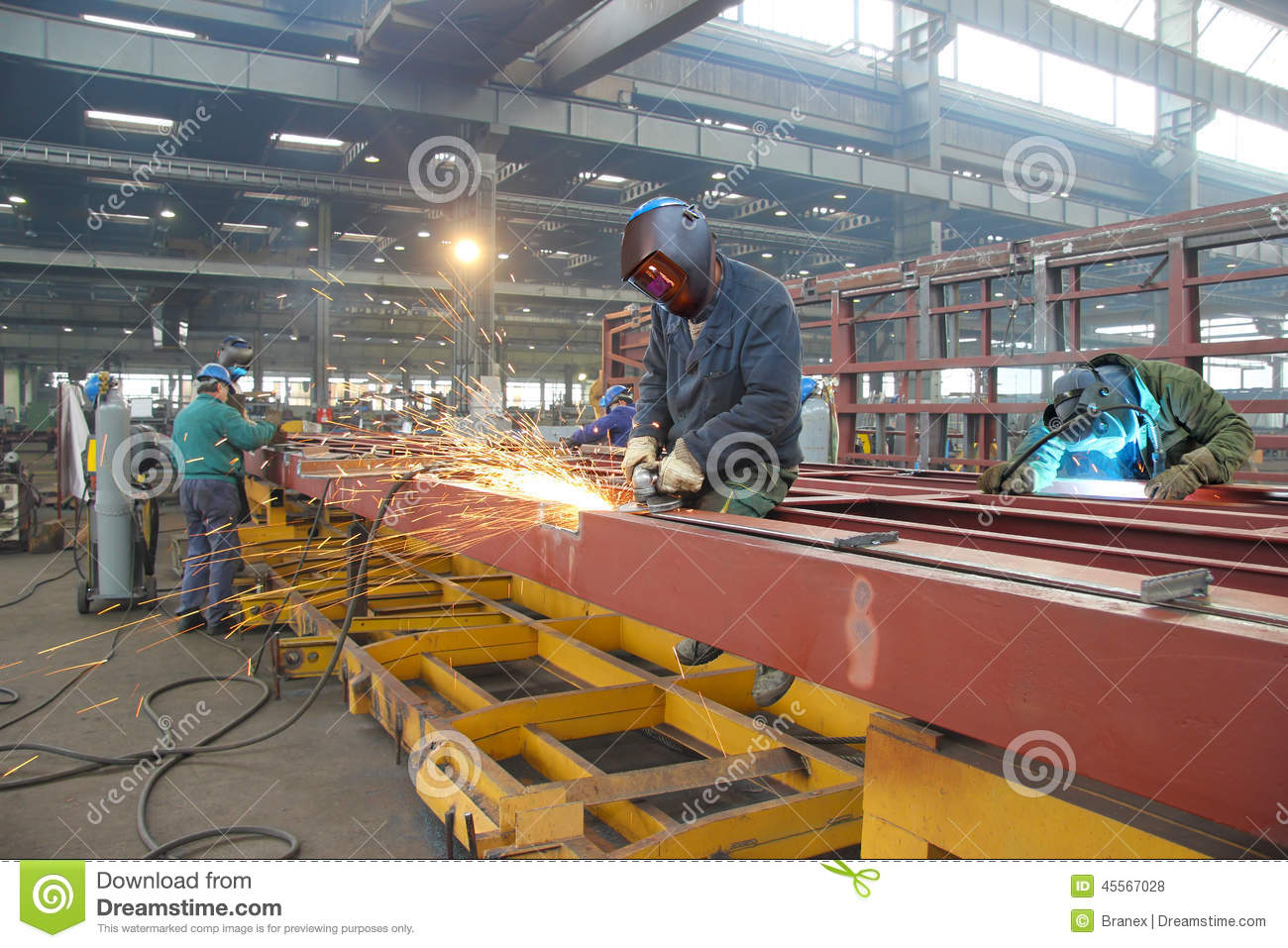 Steel workers stock photo  Image of lifestyle, iron, hall - 45567028