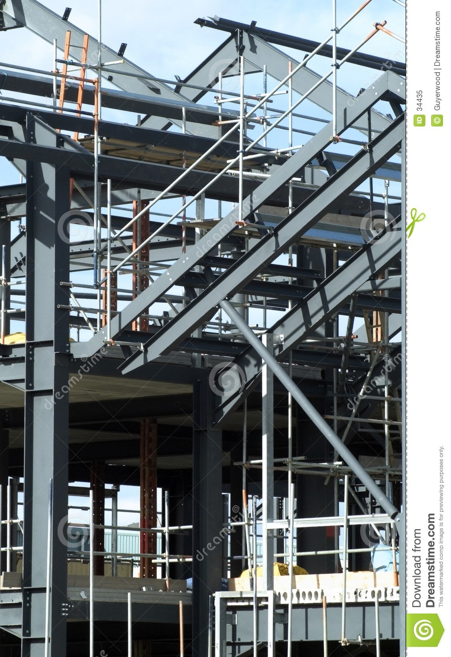 Steelwork stock image. Image of frame, architecture, framework - 34435