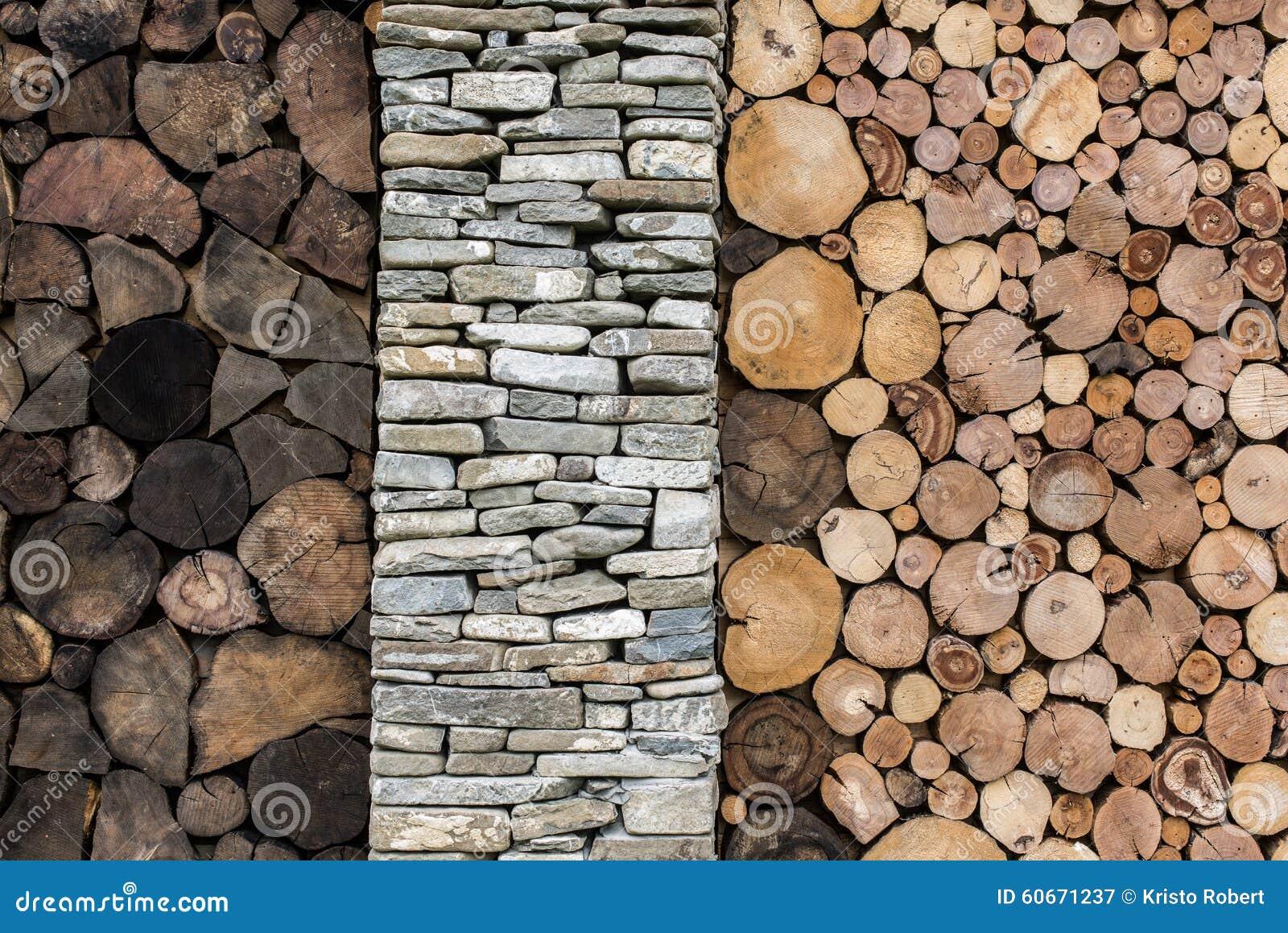 Steen en houten achtergrond