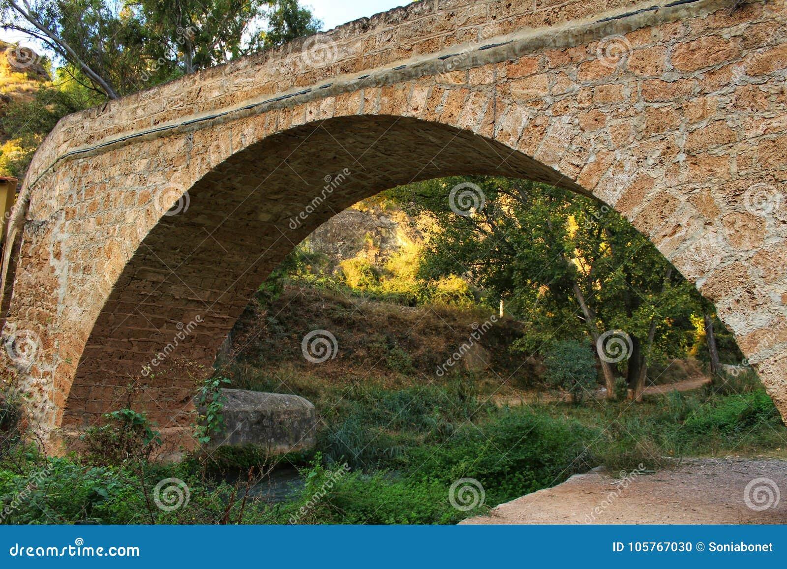 Steenbrug over Tuejar-Rivier