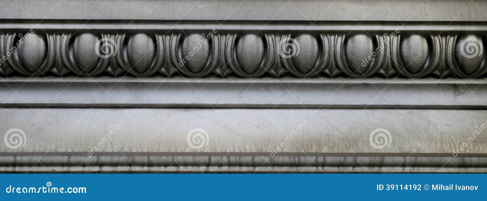 Steendecoratie (abstract elementenpatroon)
