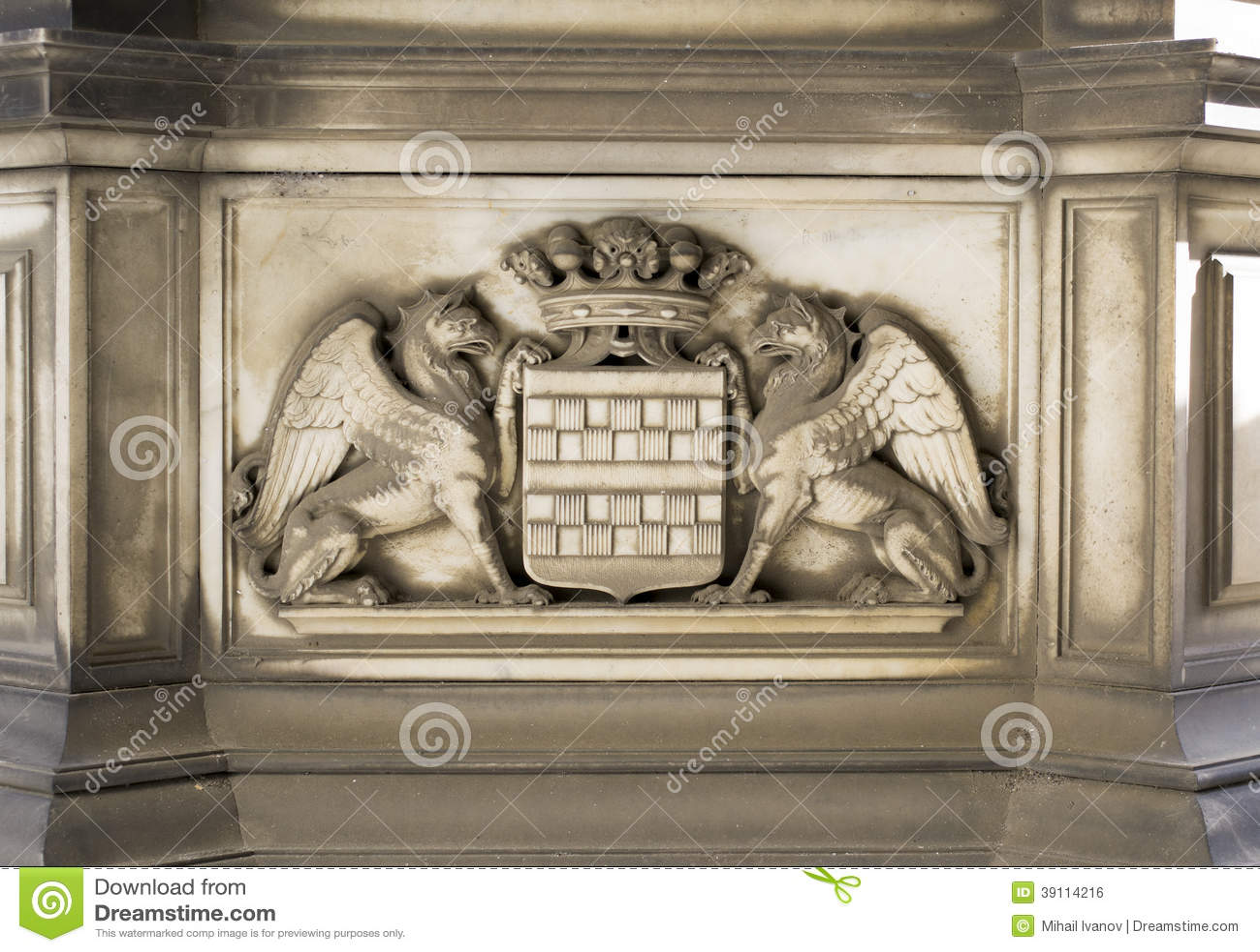 Steendecoratie (Genoa City Symbol)