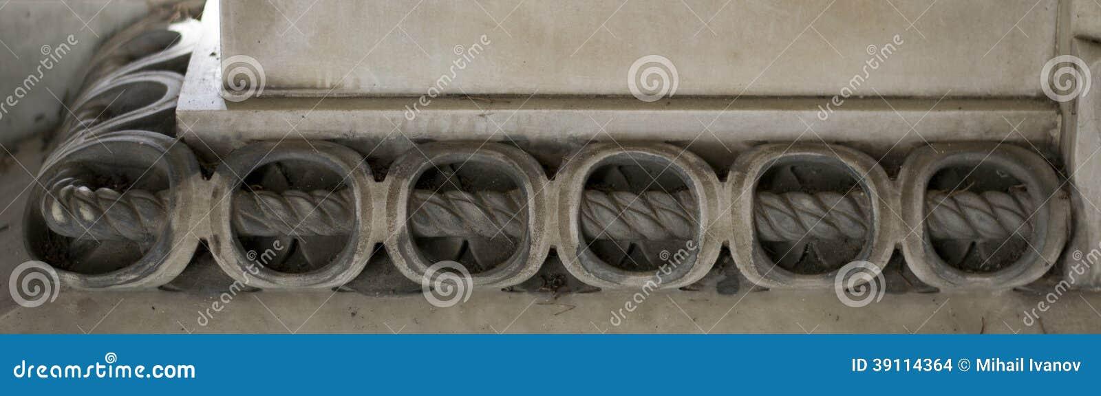 Steendecoratie (Kabelornament)