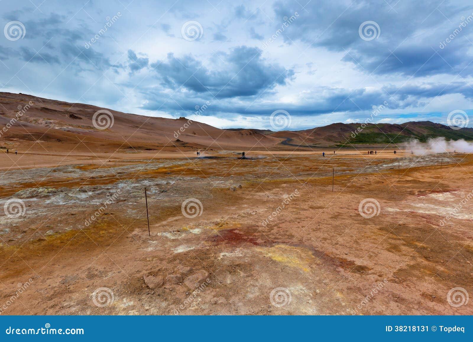 Steenwoestijn bij Geothermisch Gebied Hverir, IJsland