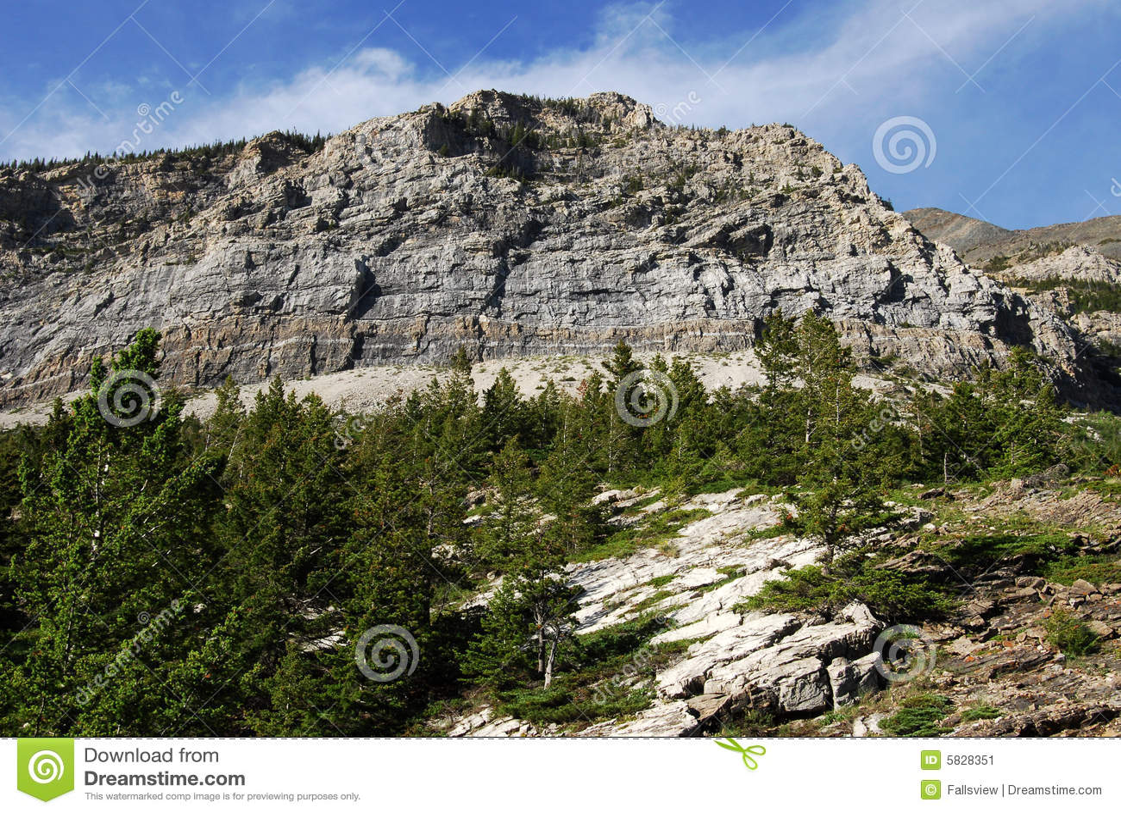 Steep cliff of mountain