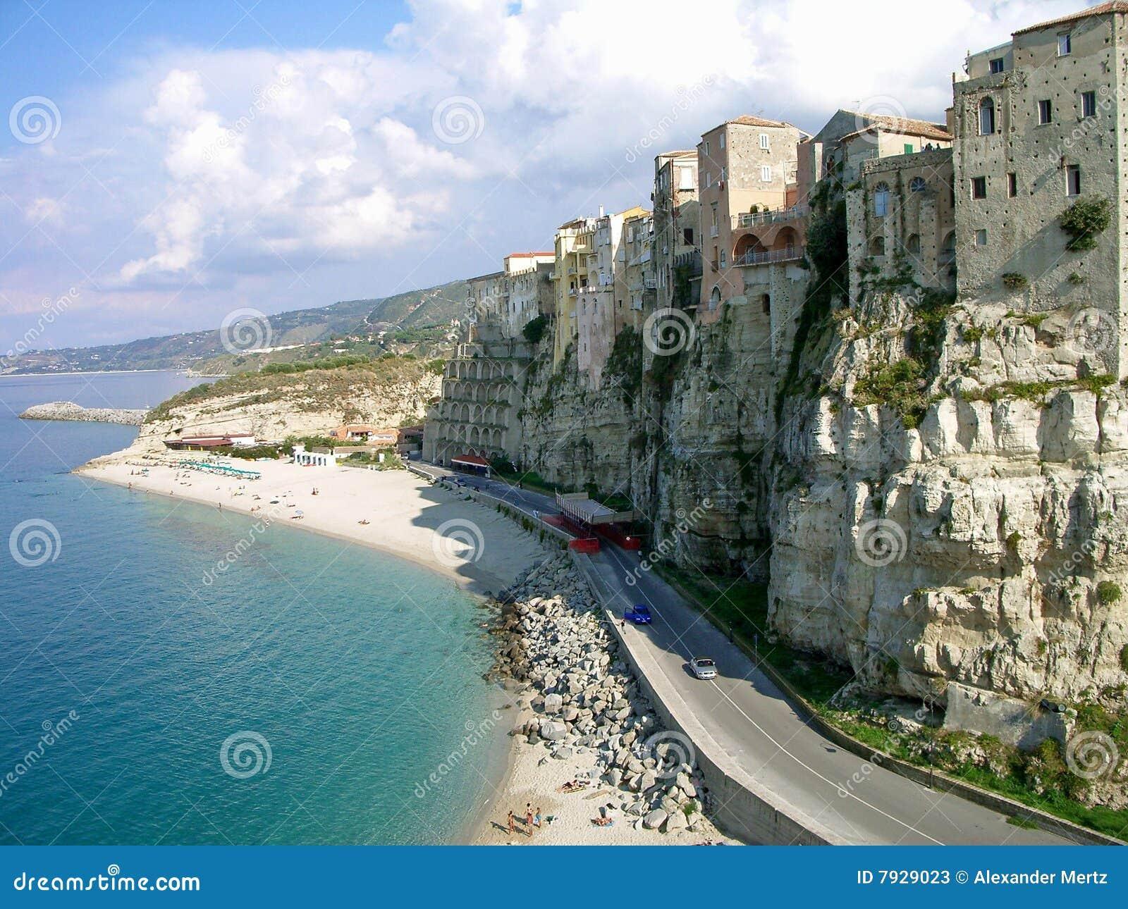 Steep coast in Calabria, Italy