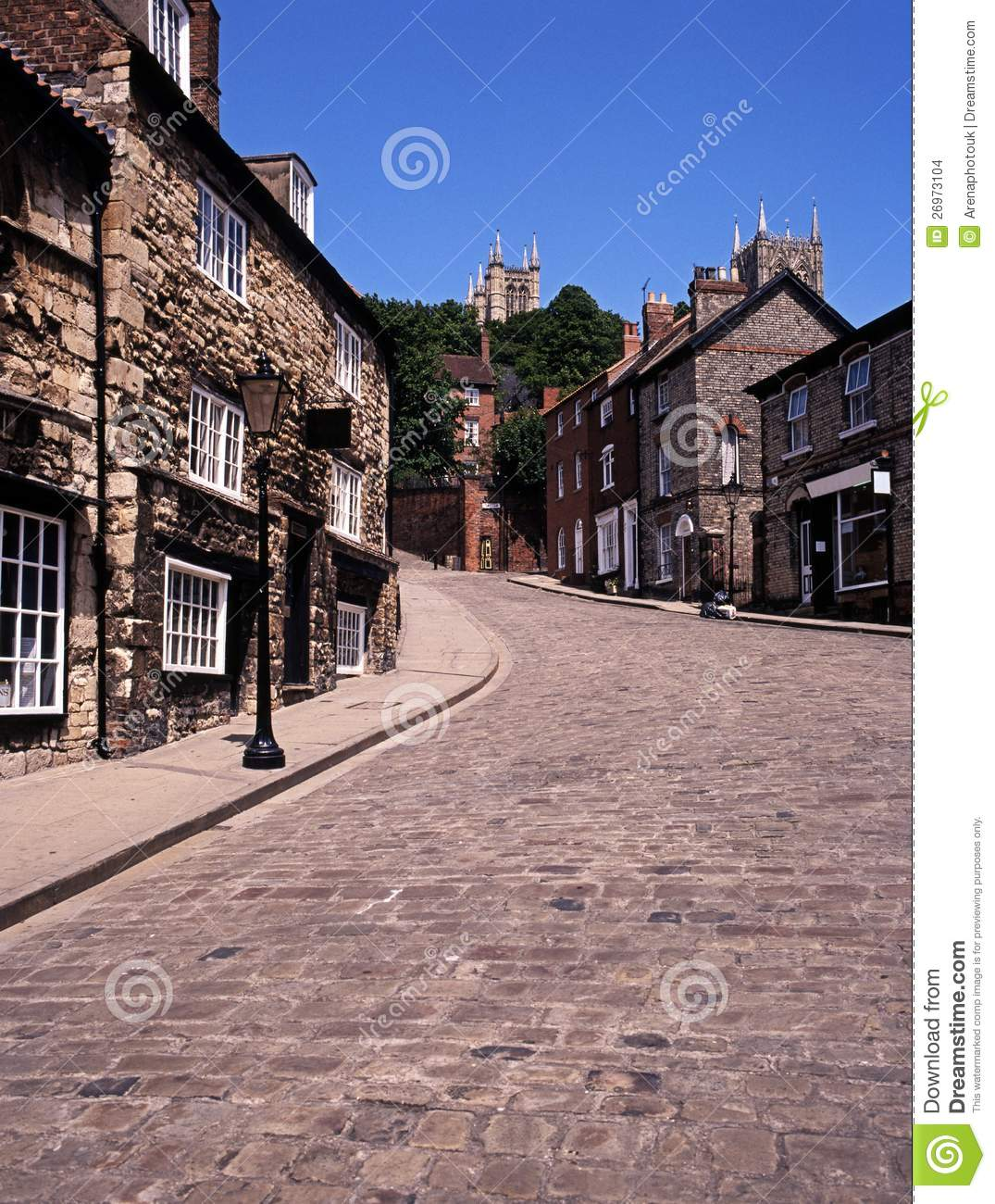 Download Steep Hill, Lincoln, England. Stock Photo - Image of english, european: 26973104