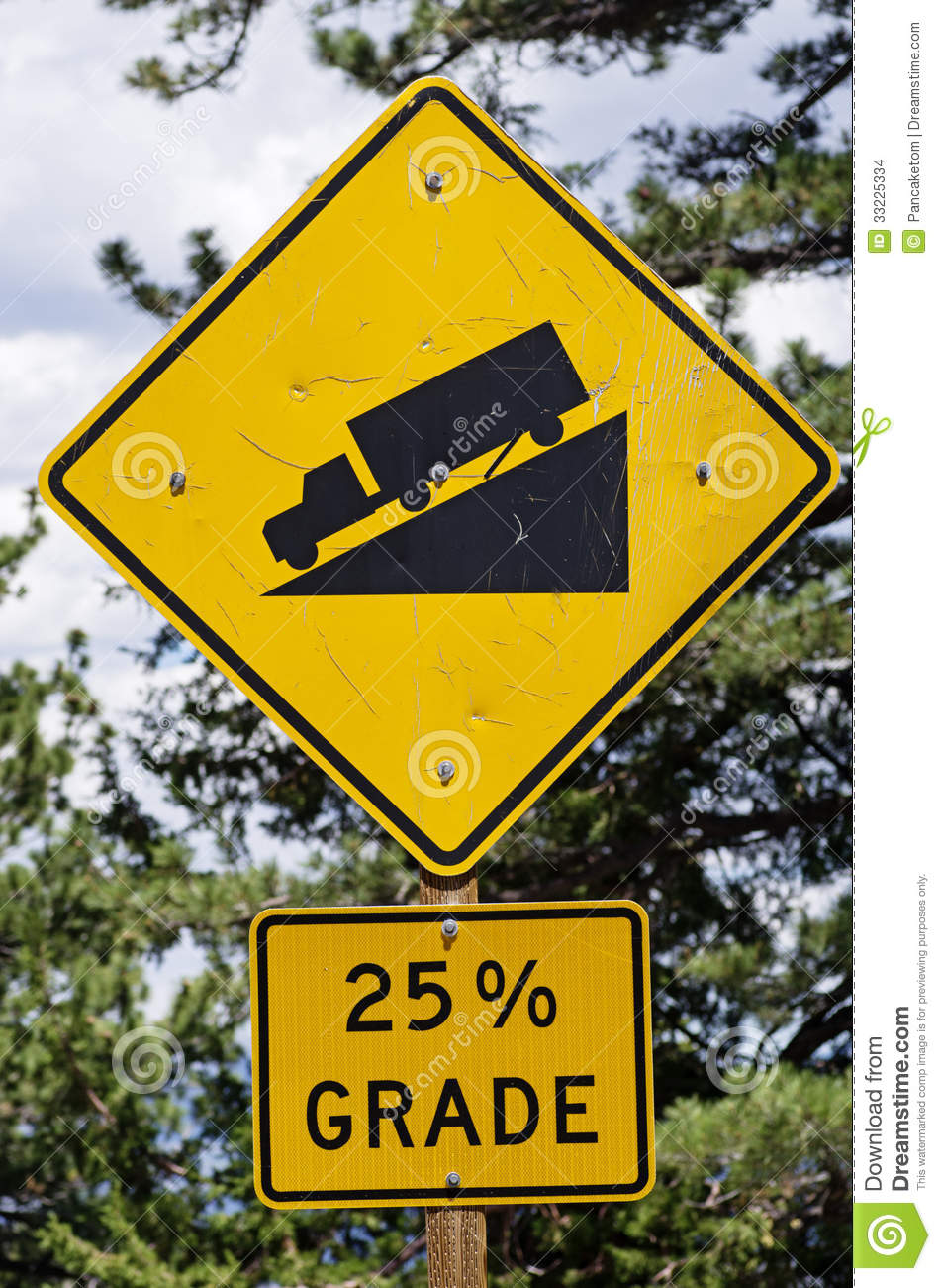 Steep Road Sign Stock Images Image 33225334