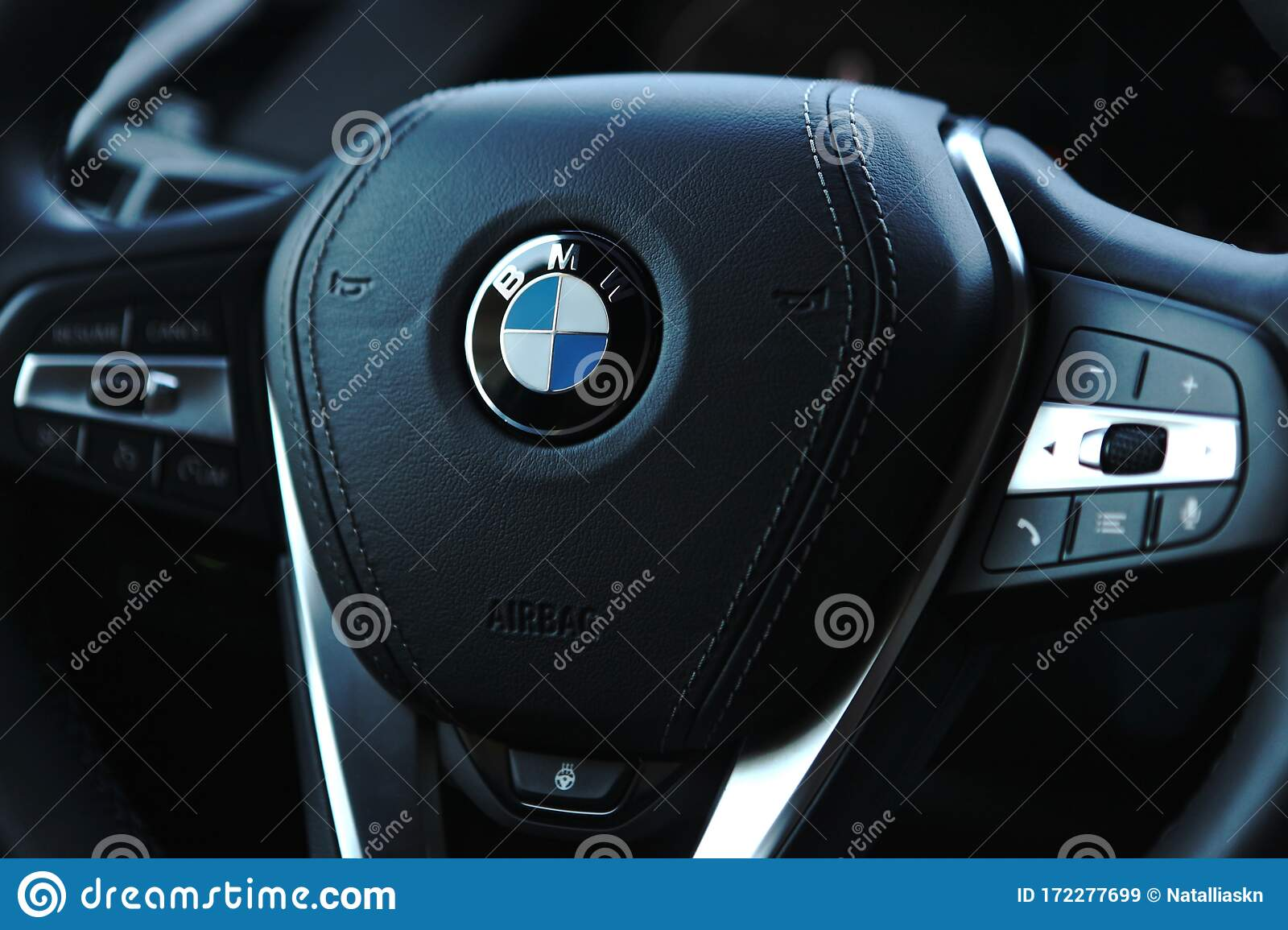 Steering Wheel From A BMW Car Editorial Stock Image ... - photo#12
