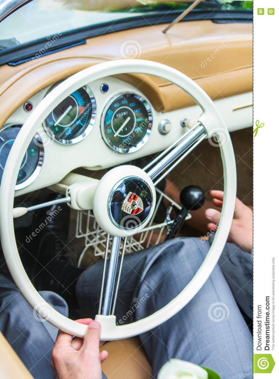 Behind The Steering Wheel : Porsche steering wheel classic car editorial