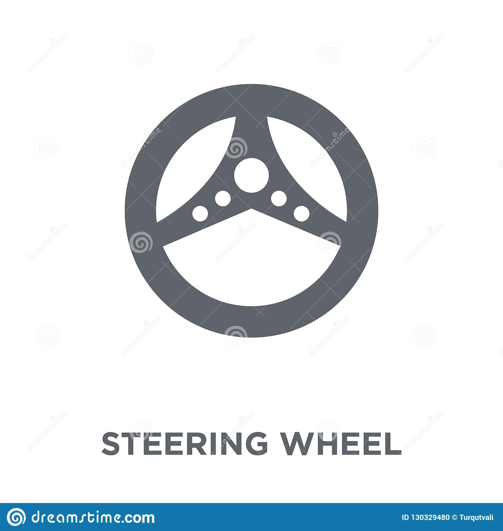 Steering wheel icon from Entertainment collection.