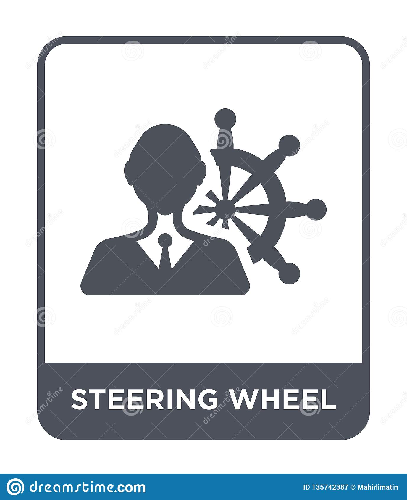 steering wheel icon in trendy design style. steering wheel icon isolated on white background. steering wheel vector icon simple