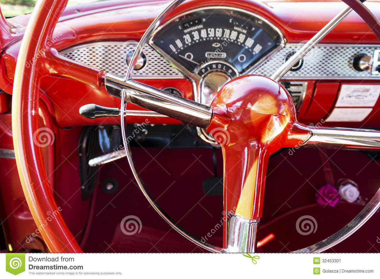 Steering Wheel Of Style Car Stock Image Image