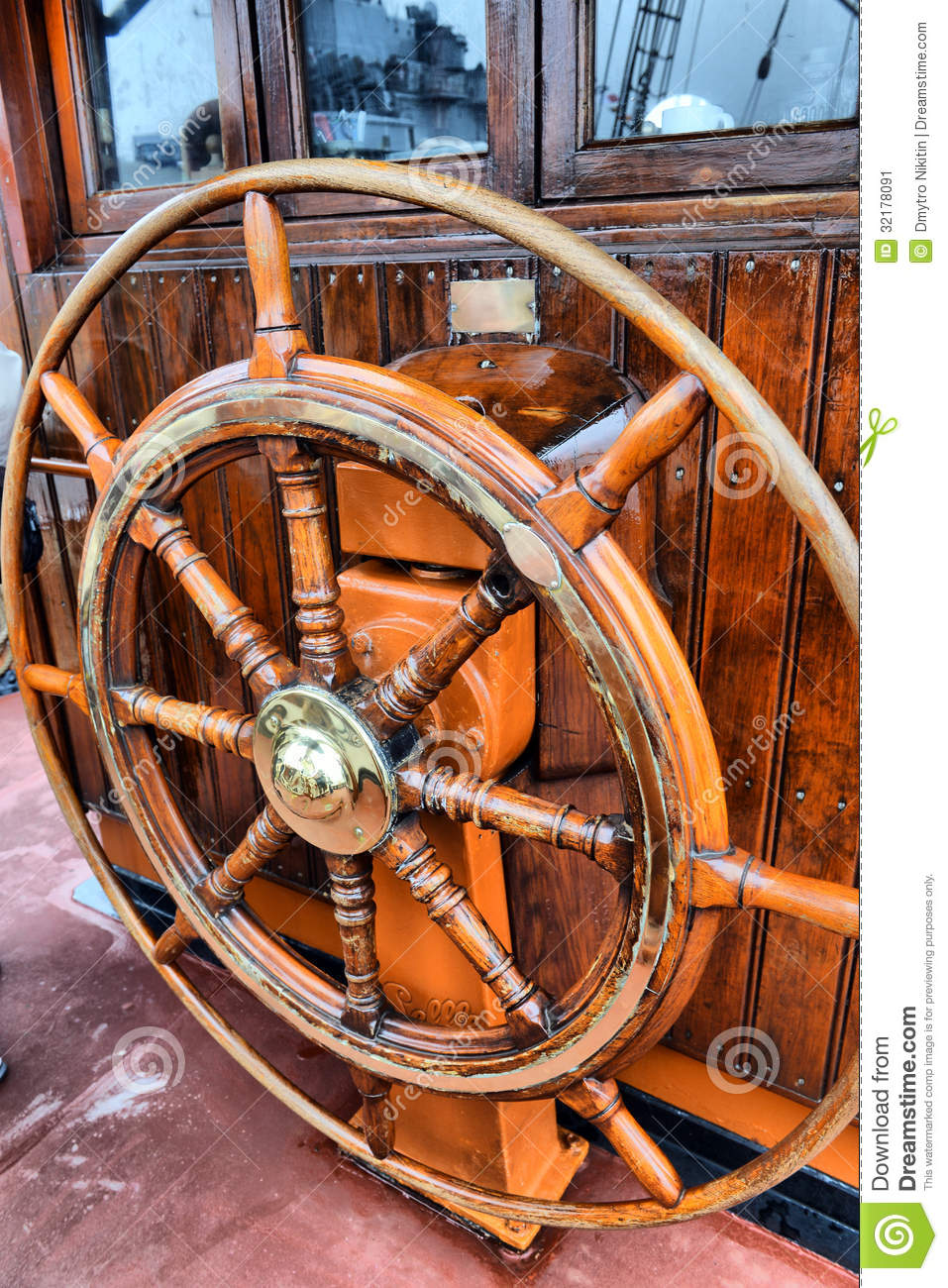 Steering Wheel Sailboat Stock Image Image Of Crossing