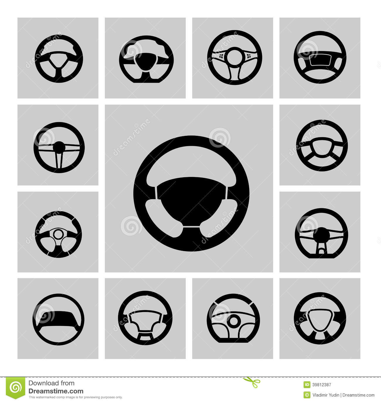 steering wheel stock vector illustration of steering 39812387 dreamstime com