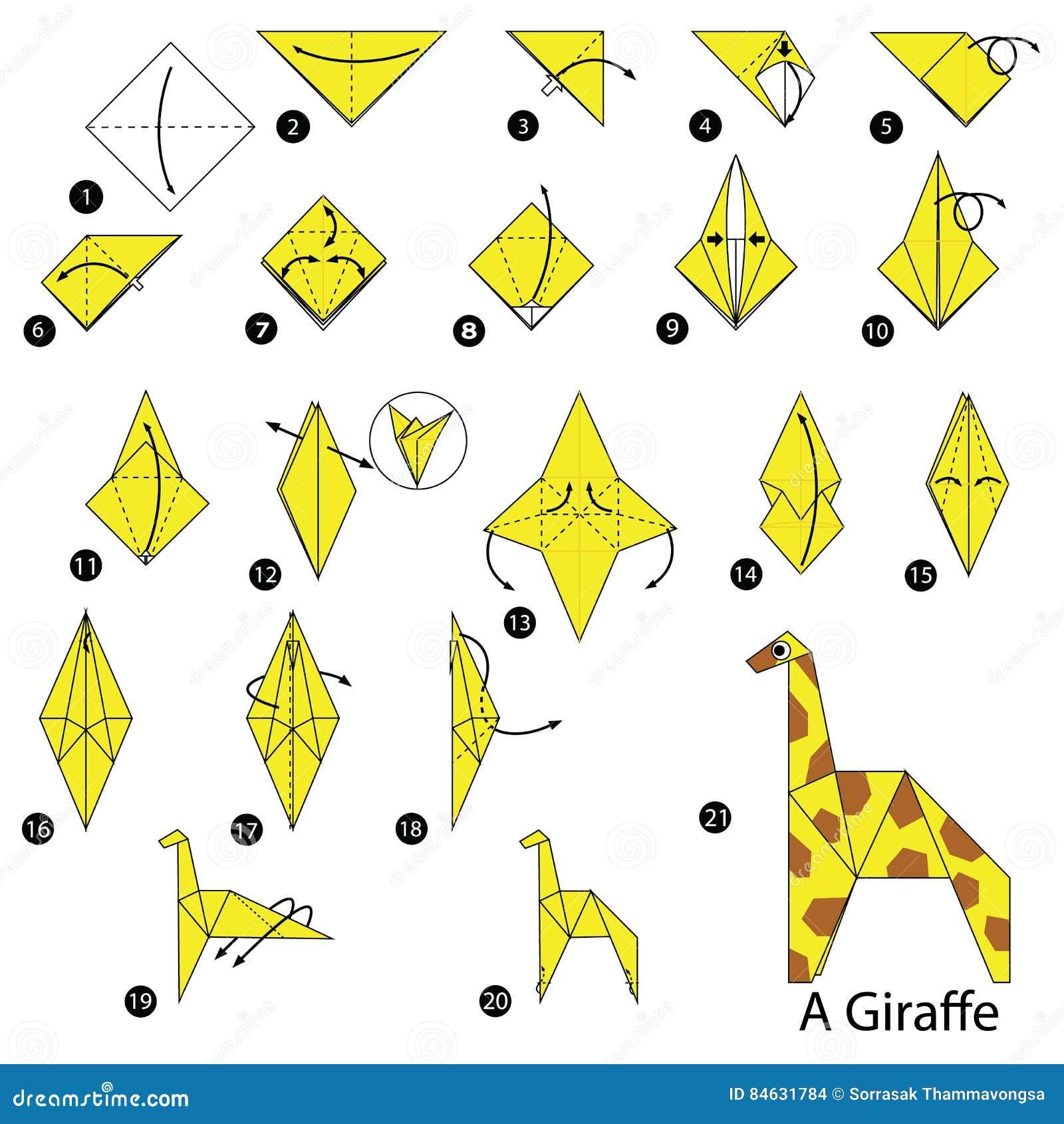 Steg-för-steg Anvisningar Hur Man Gör Origami En Giraff ... - photo#33