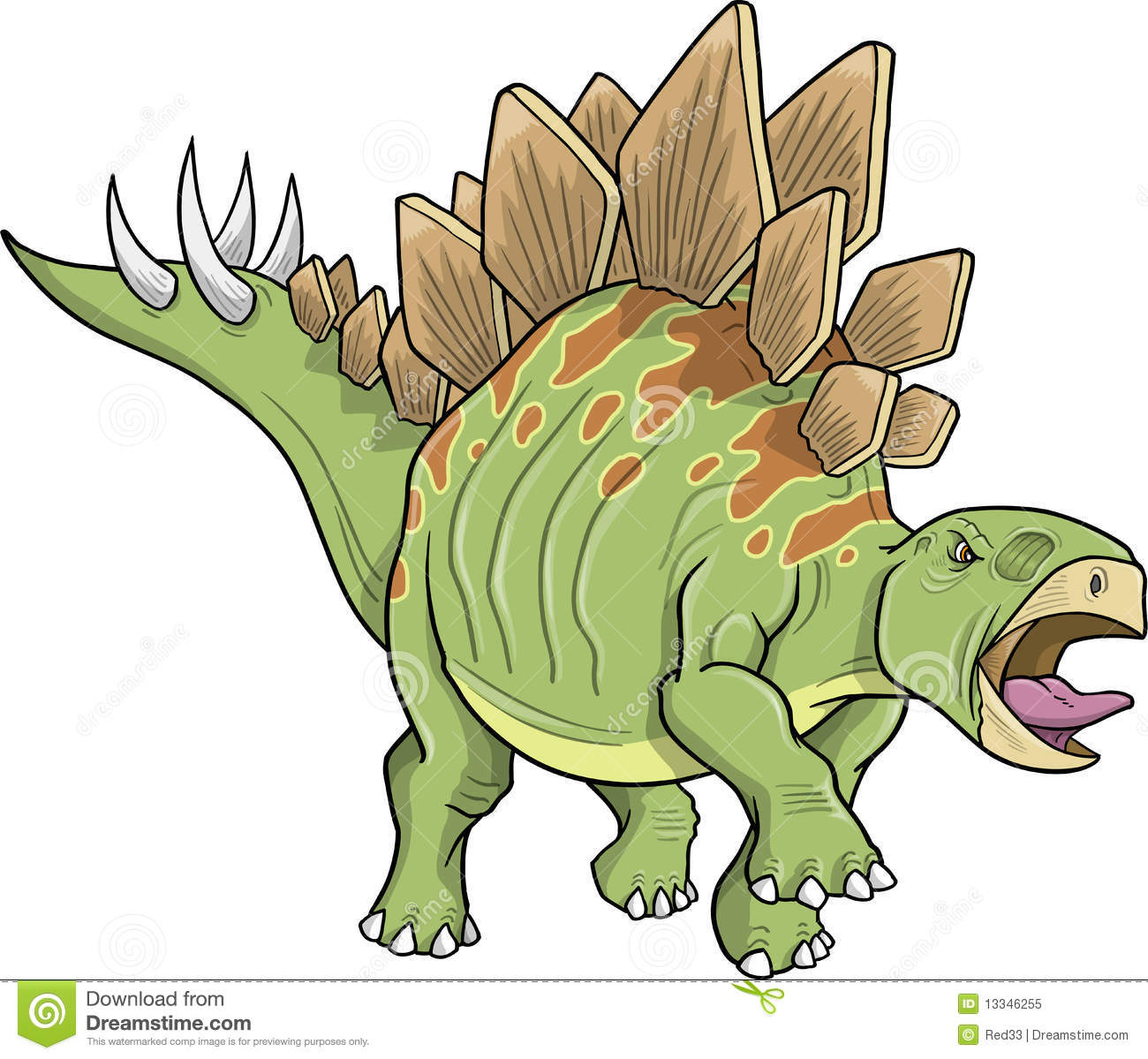 Stegosaurus Dinosaur Royalty Free Stock Photo Image 13346255