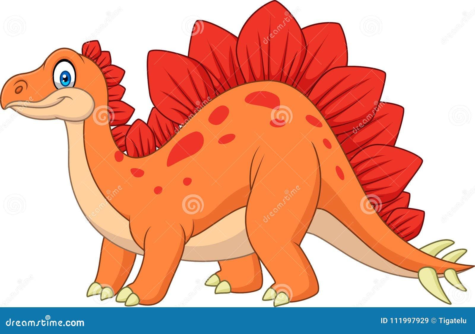 Stegosaurus sonriente de la historieta