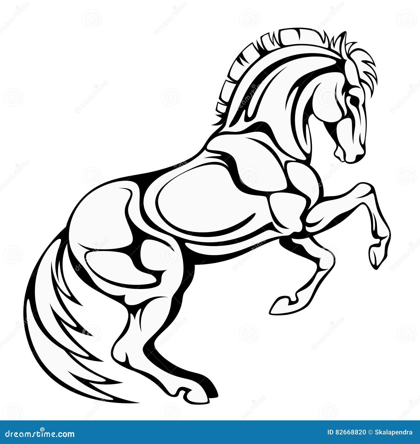 steigerend paard vector illustratie illustratie bestaande