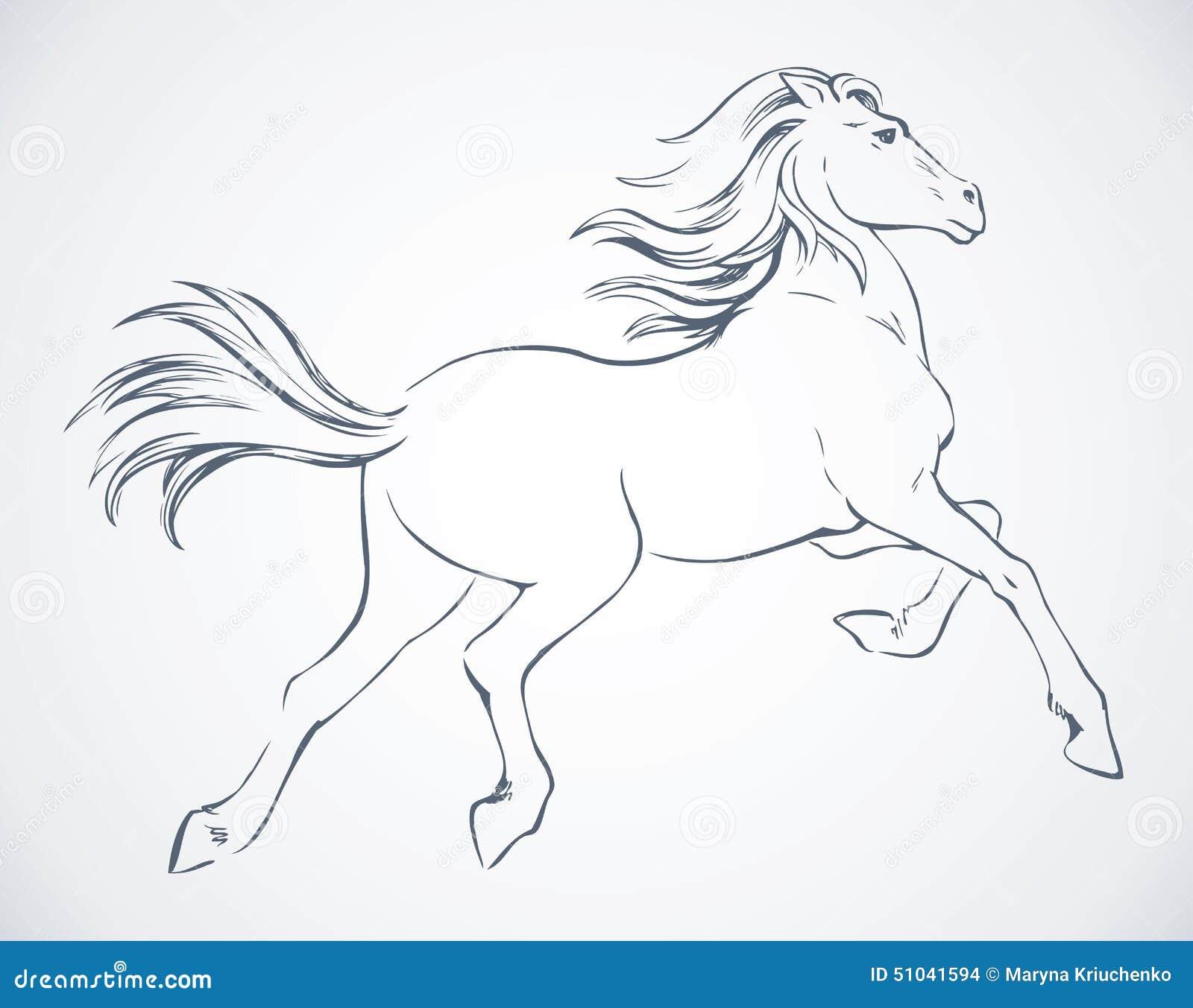 steigerend paard vector tekening vector illustratie