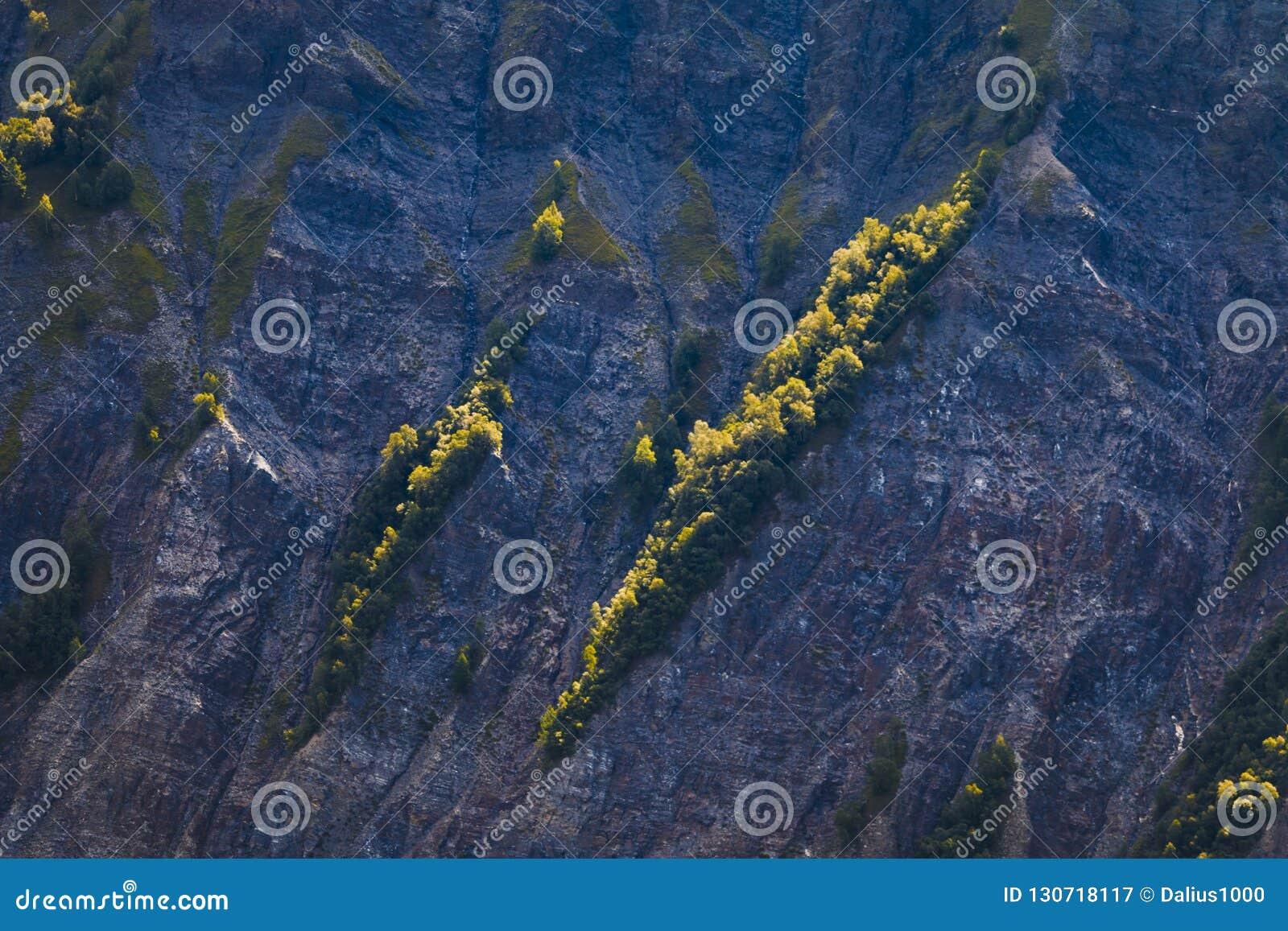 Steile helling in Franse alpen