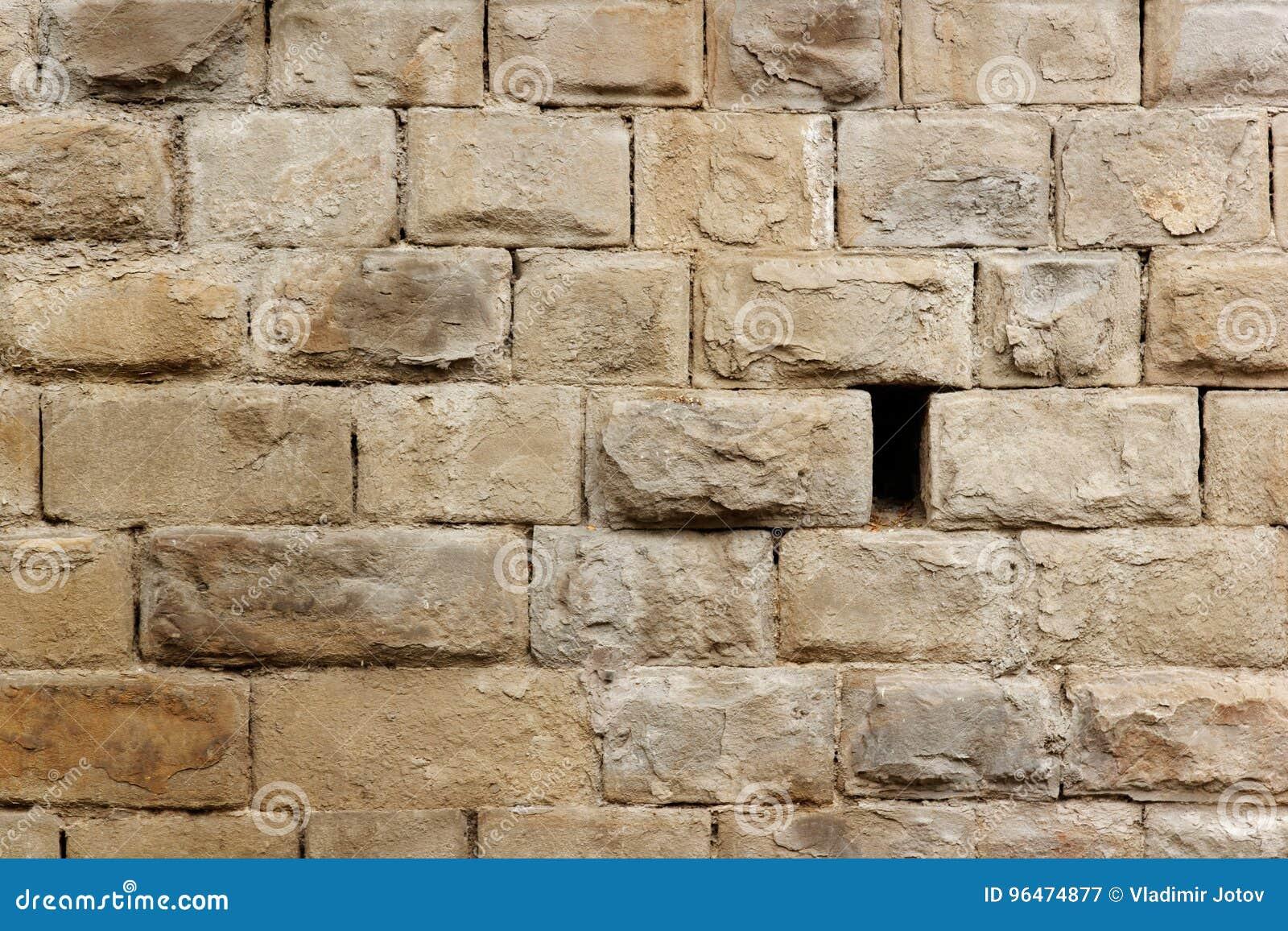 Stein-brik Wand