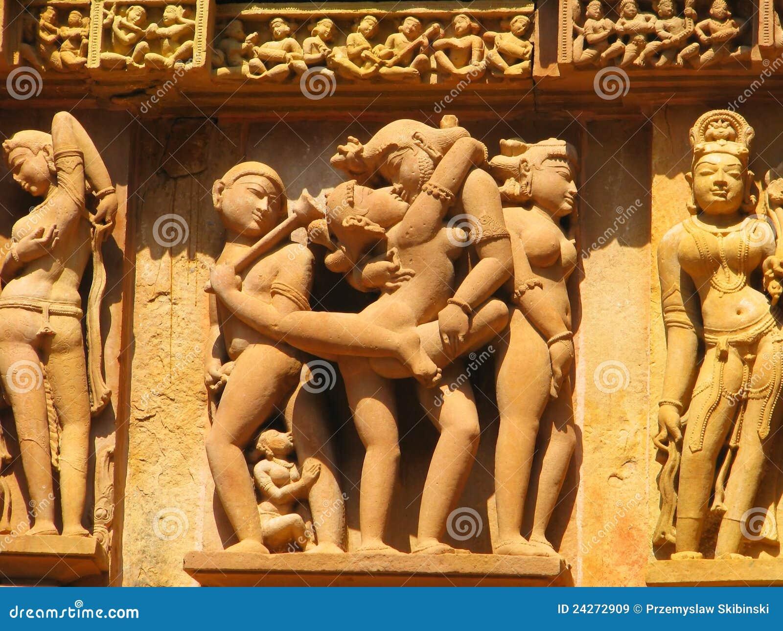Erotische Skulptur in Indien