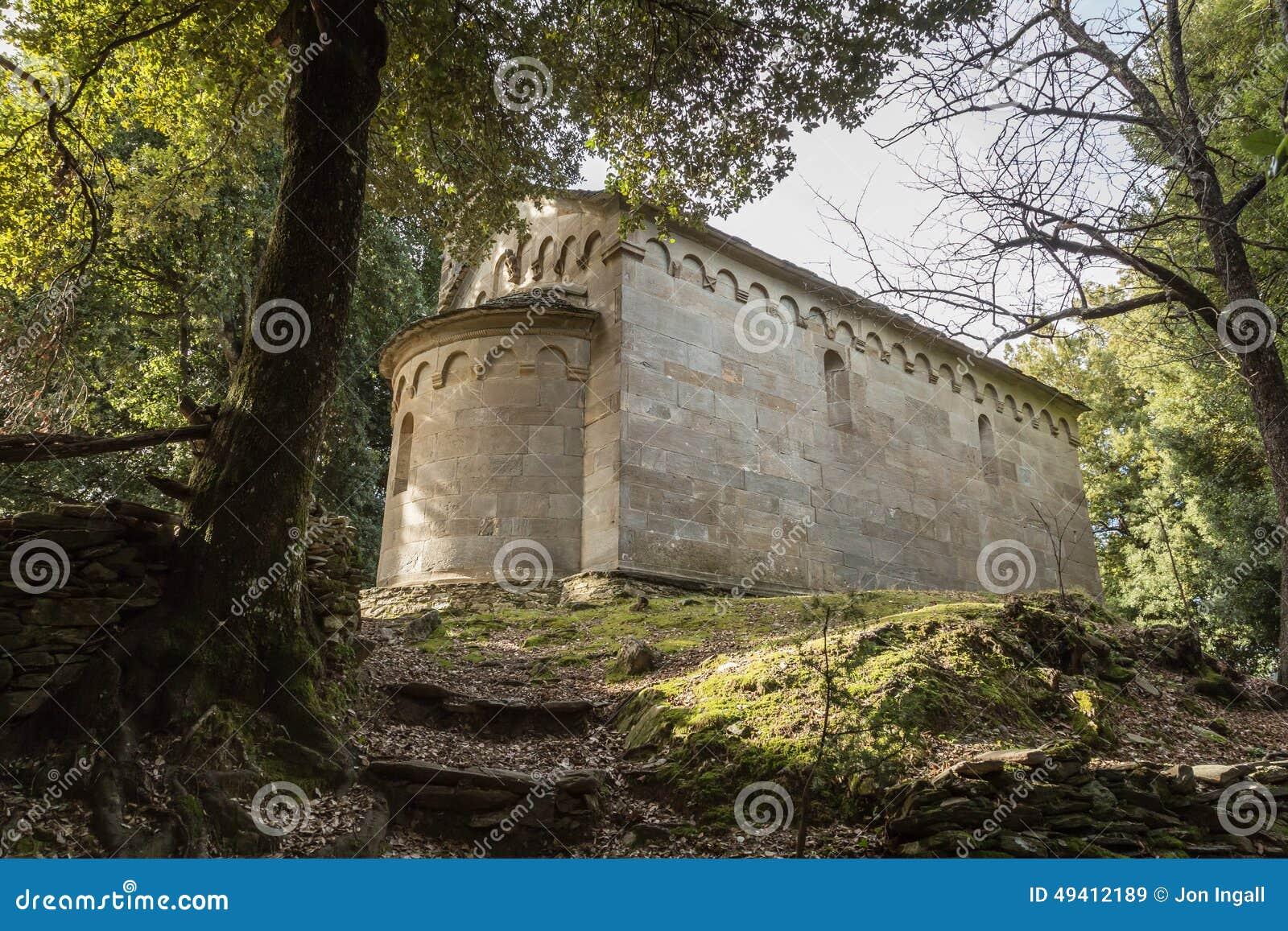 Download Stein- Kapelle Bei San Quilico In Mittel-Korsika Stockbild - Bild von fromm, römisch: 49412189