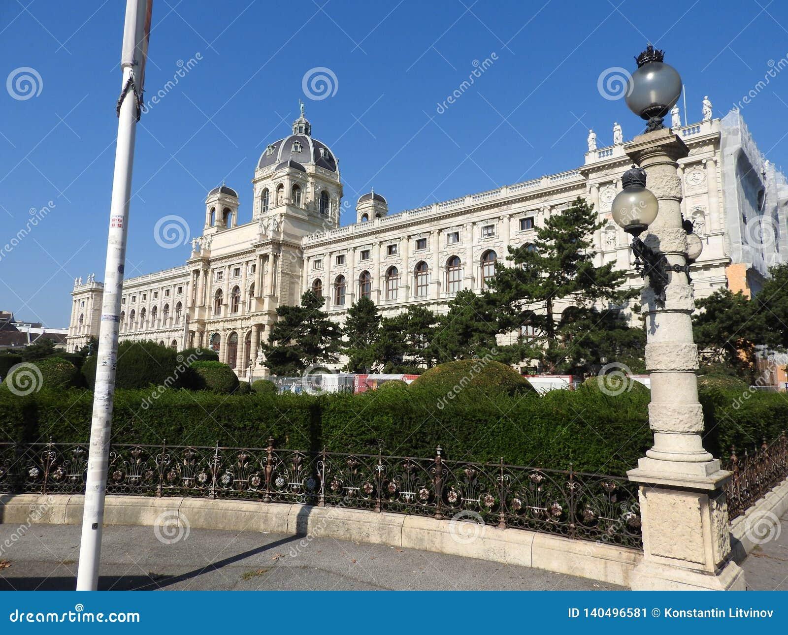 Steinarchitektur von Hausfassaden und von Monumenten, Wien, Österreich