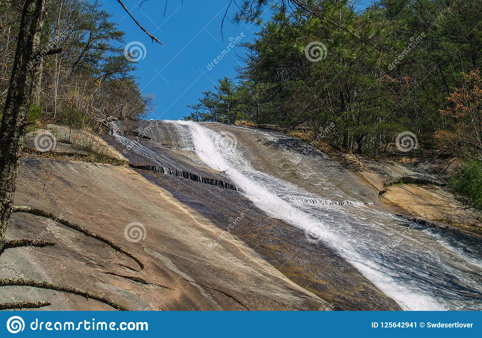 Steinberg fällt, in, Gap, North Carolina zu brüllen