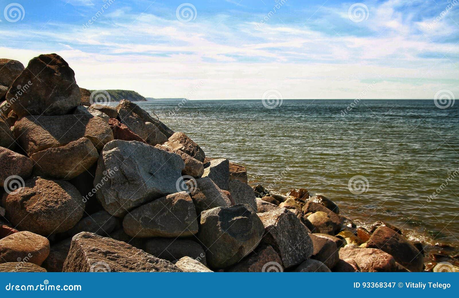 Steinküste der Ostsee
