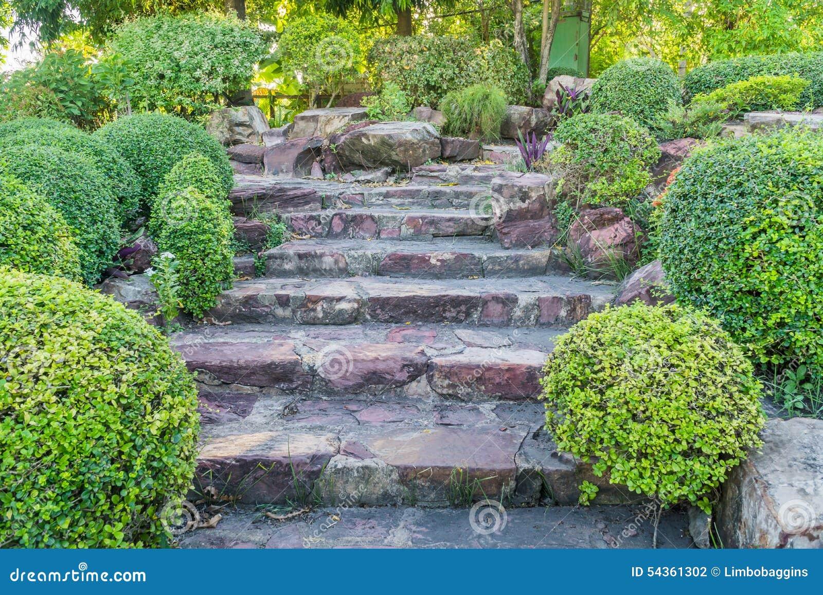 Steintreppe im garten stockfoto bild von grunge aufbau 54361302 - Scale in giardino ...