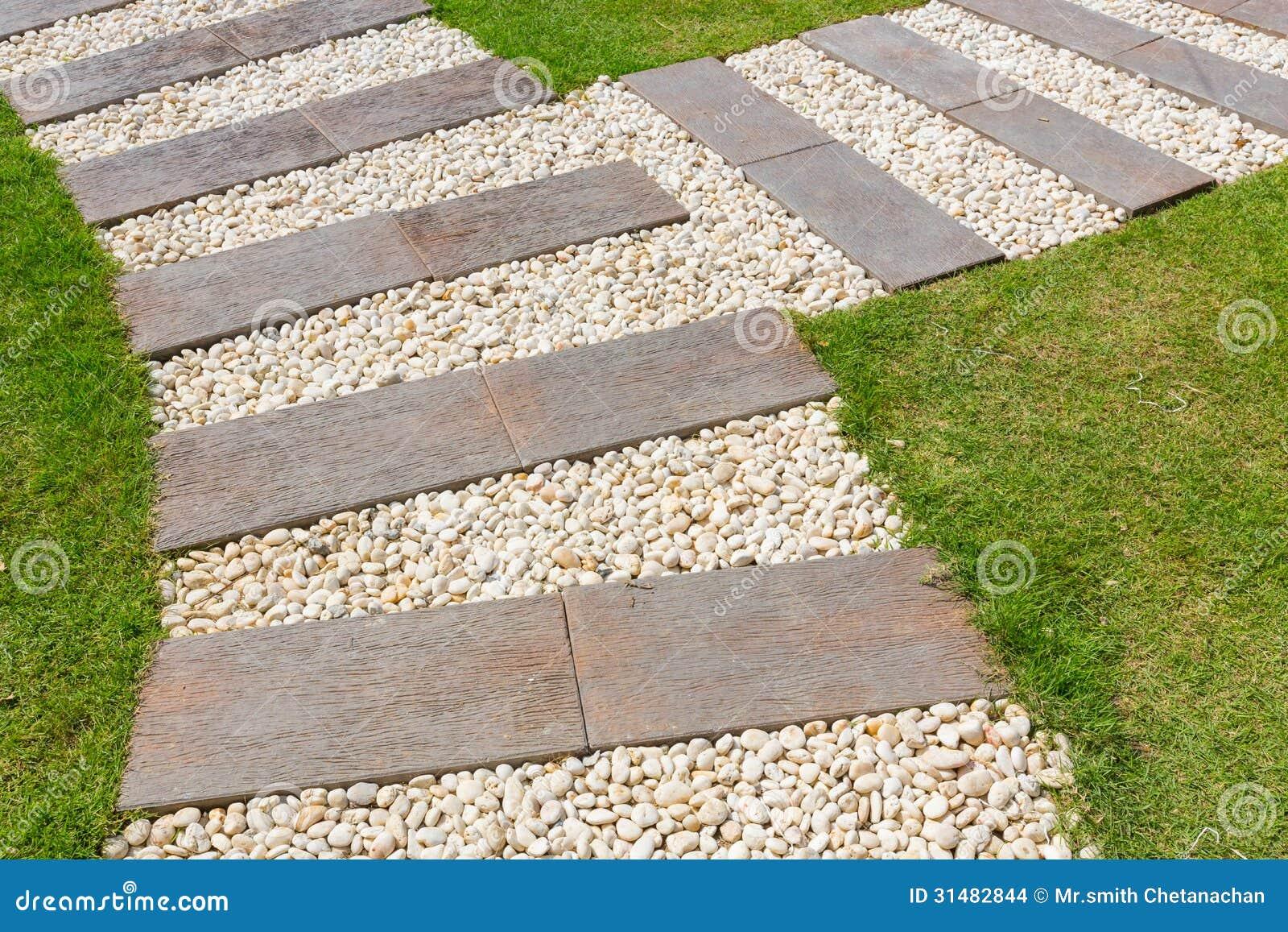 banco de jardim vetor:Steinweg Im Garten Stockbilder – Bild: 31482844