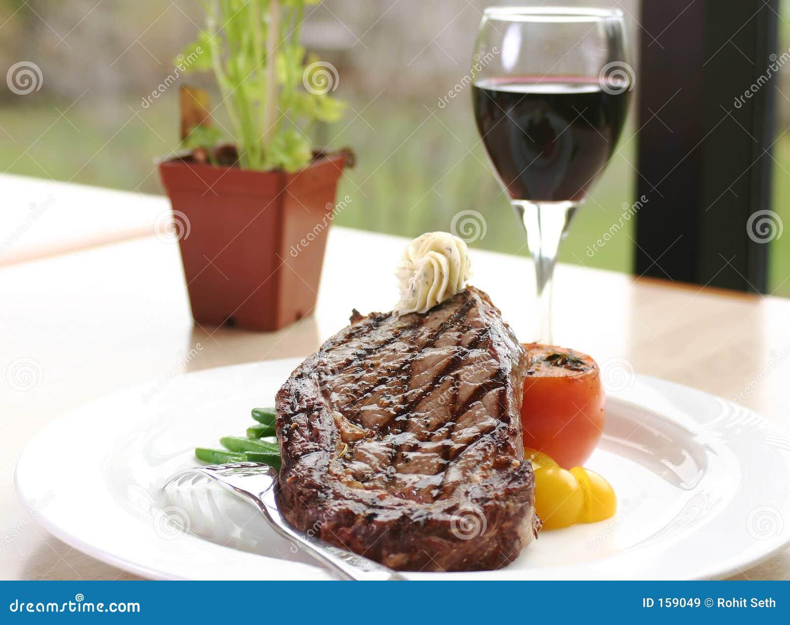 Stek służyć oko żebra wina